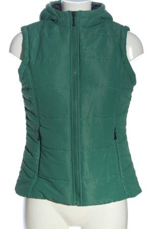 Cecilia Classics Donsvest groen quilten patroon casual uitstraling