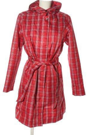 Cecilia Classics Cappotto con cappuccio rosso-bianco stampa integrale
