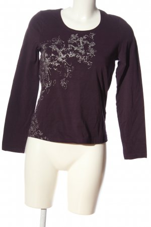 Cecilia Classics Longsleeve brown-natural white allover print casual look