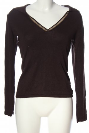 Cecilia Classics Longsleeve brown striped pattern casual look