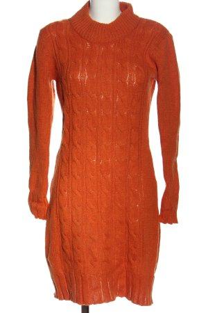 Cecilia Classics Sweaterjurk licht Oranje kabel steek casual uitstraling