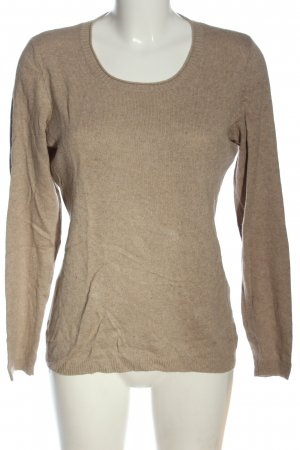 Cecilia Classics Strickpullover wollweiß meliert Casual-Look