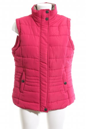 Cecilia Classics Steppweste pink Steppmuster Casual-Look