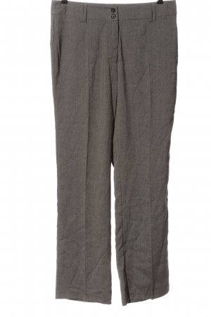 Cecilia Classics Pantalon en jersey gris clair moucheté style d'affaires