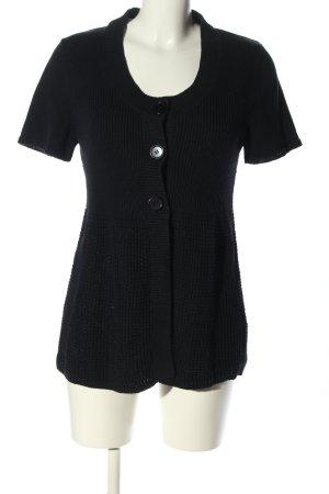 Cecilia Classics Veste en tricot noir style décontracté