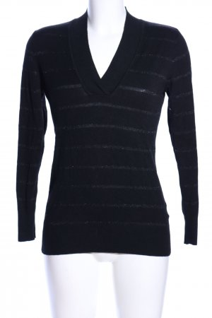 Cecilia Classics V-Neck Sweater black quilting pattern casual look