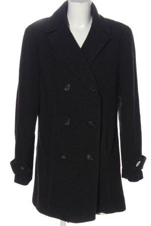 Cecilia Classics Manteau en laine noir style décontracté