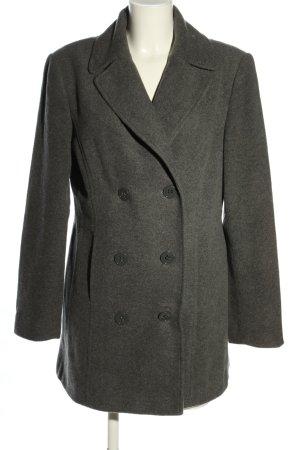 Cecilia Classics Cappotto in lana grigio chiaro puntinato stile casual