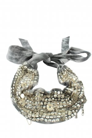 Cecilia de Bucourt Cintura in tela argento-grigio chiaro effetto bagnato