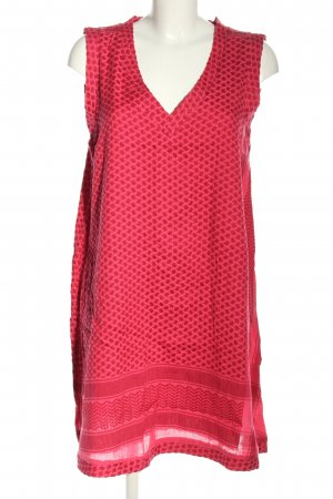 Cecilie Copenhagen A-Linien Kleid rot grafisches Muster Business-Look