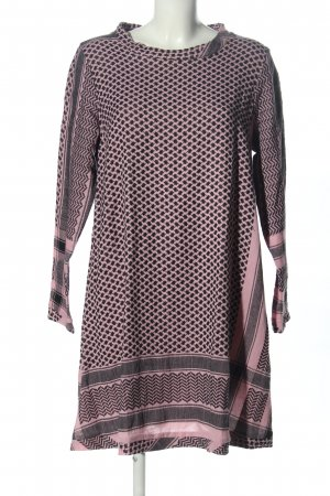 Cecilie Copenhagen Hippie Dress light grey-pink graphic pattern casual look