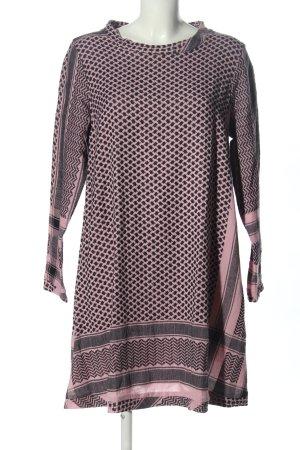 Cecilie Copenhagen Abito hippie grigio chiaro-rosa motivo grafico stile casual
