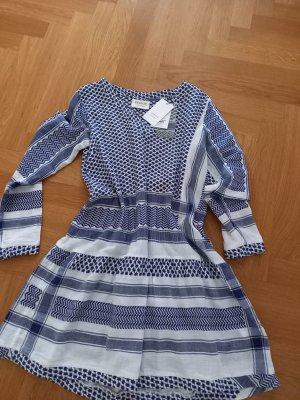 Cecilie Copenhagen Midi-jurk wit-blauw
