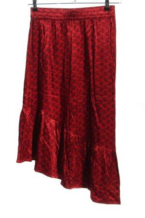 Cecilie Copenhagen Jupe à volants rouge-noir motif abstrait style décontracté