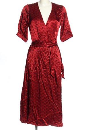 Cecilie Copenhagen Robe portefeuille rouge élégant