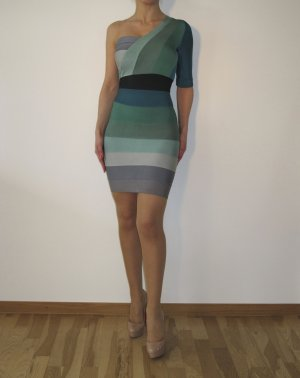 Celebboutique House of CB Bodycon Dress Türkis One Shoulder Bandage w NEU XS