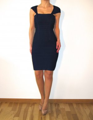 Celebboutique House of CB Kleid Bandeaukleid Bodycon Dress Blau Bandage w NEU XS