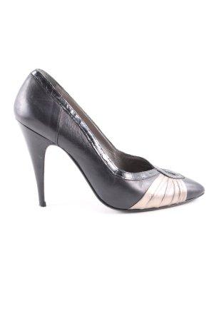Celebrity Spitse pumps zwart-bruin elegant