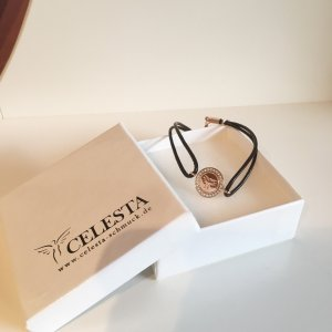 Silver Bracelet silver-colored-dark brown