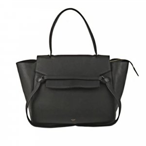 Celine Satchel black leather