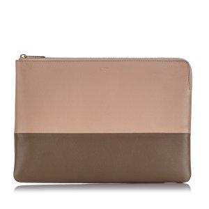 Celine Bicolor Leather Clutch Bag