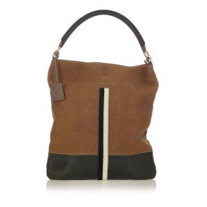 Celine Bicolor Leather Handbag