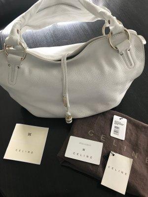 Celine Bowling Bag white leather
