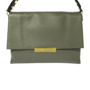 Celine Shoulder Bag green leather