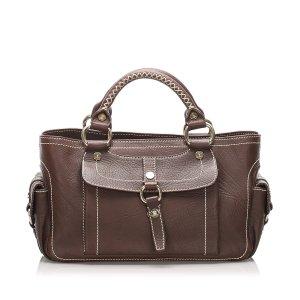 Celine Handbag dark brown leather