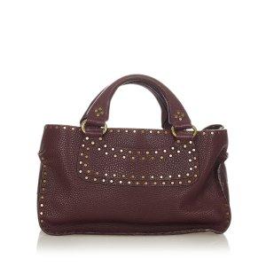 Celine Boogie Studded Leather Handbag