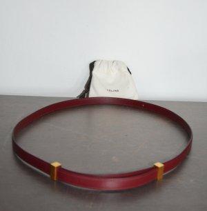 CELINE Box Kalbsleder Small Classic Lederriemen Ersatz Burgunder