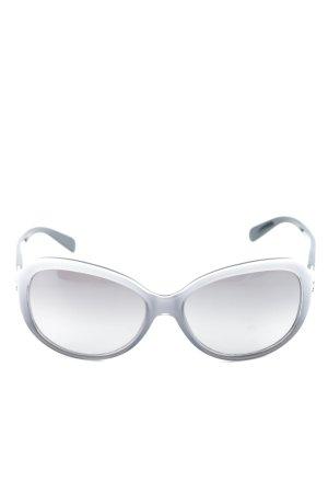 Celine Gafas mariposa blanco-gris claro estilo sencillo