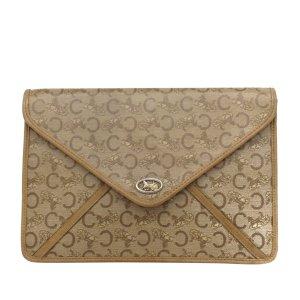 Celine C Carriage Canvas Clutch Bag