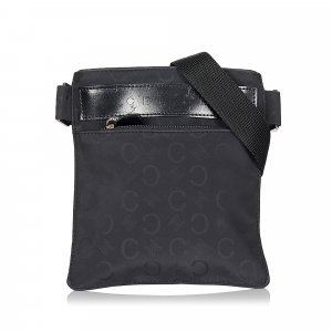 Celine C Carriage Canvas Crossbody Bag