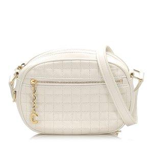 Celine C Charm Leather Crossbody Bag
