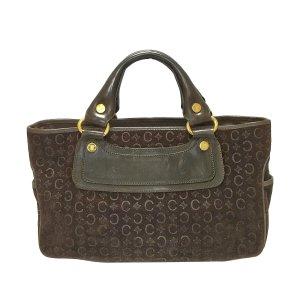 Celine Handbag dark brown suede