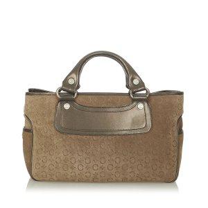 Celine C Macadam Boogie Suede Handbag