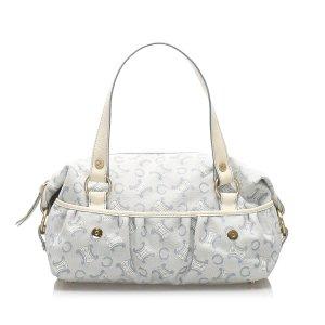 Celine C Macadam Canvas Handbag