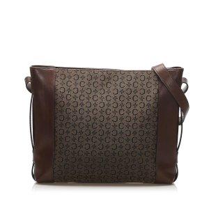 Celine C Macadam Canvas Shoulder Bag