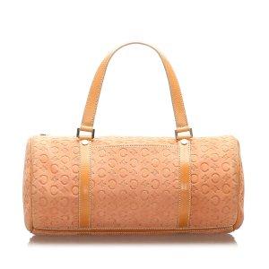 Celine C Macadam Suede Boston Bag