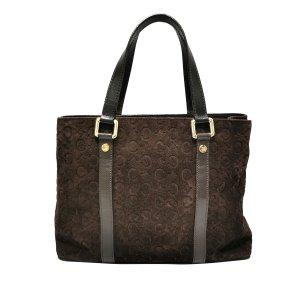 Celine C Macadam Suede Handbag