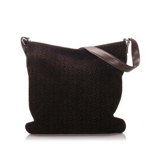 Celine C Macadam Suede Shoulder Bag