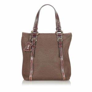 Celine Bolso de compra marrón oscuro