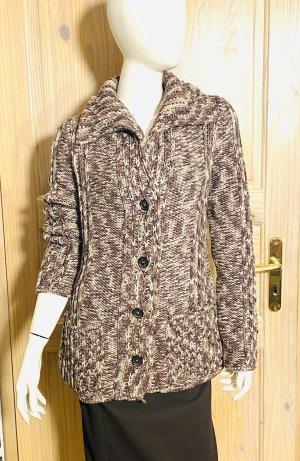 Celine Cardigan brown-white wool