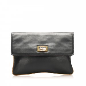 Celine Clutch black leather
