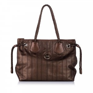 Celine Carriage Patent Leather Tote Bag