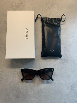 Celine Hoekige zonnebril zwart