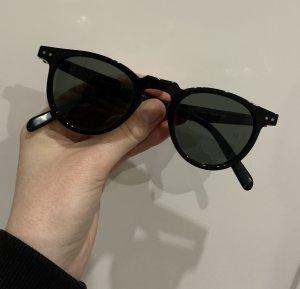 Celine Gafas de sol redondas negro acetato