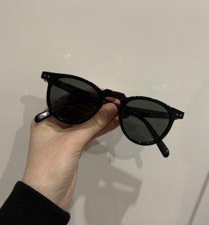 Celine Round Sunglasses black acetate
