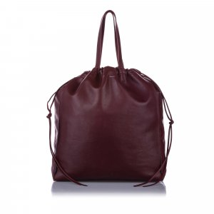 Celine Coulisse Leather Tote Bag